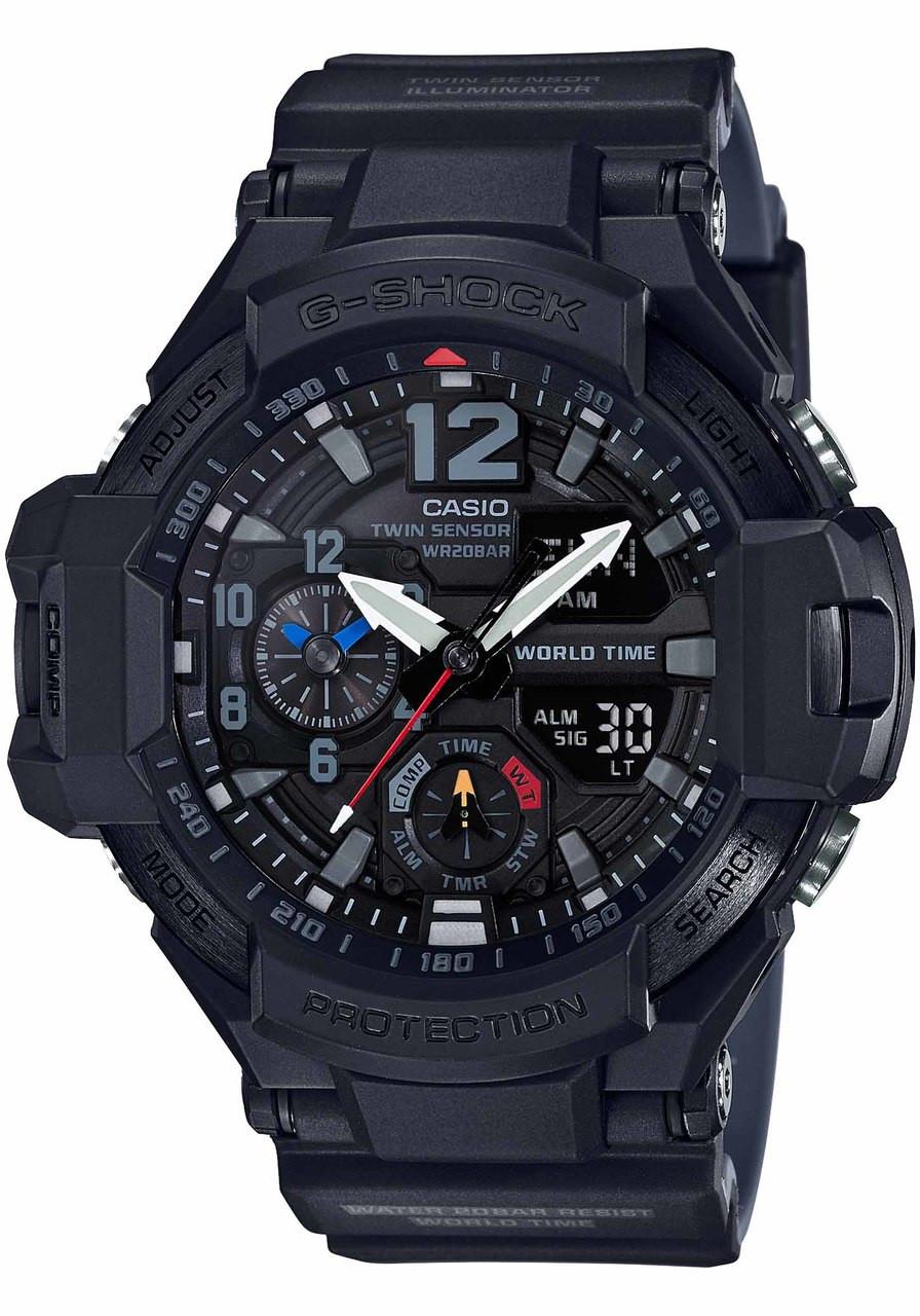 1f7aee9418f4 G-Shock GA1100-1A1 Gravitymaster Black (GA1100-1A1)