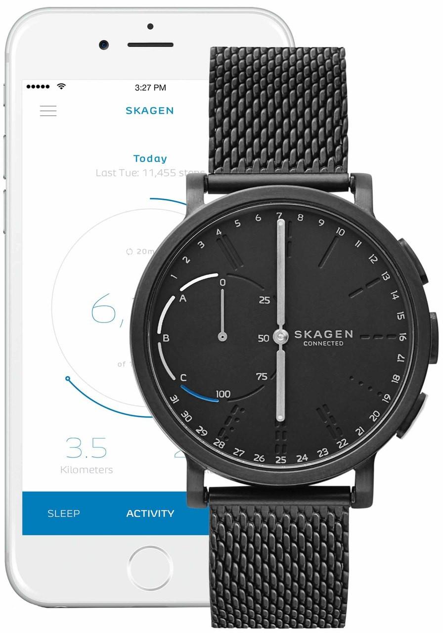 Skagen Skt1109 Hagen Connected Steel Mesh Hybrid Smartwatch