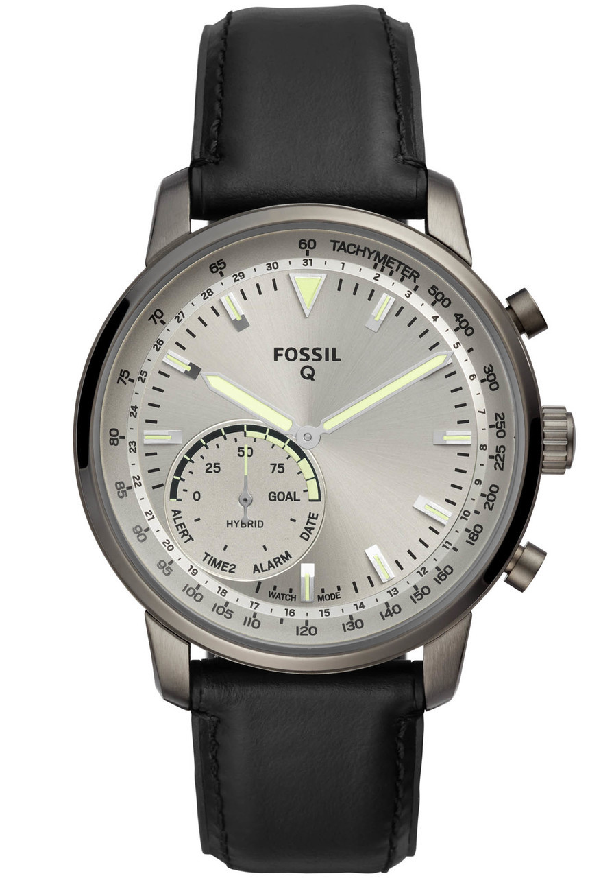 fossil ftw1171 hybrid smartwatch q goodwin gunmetal black watches com