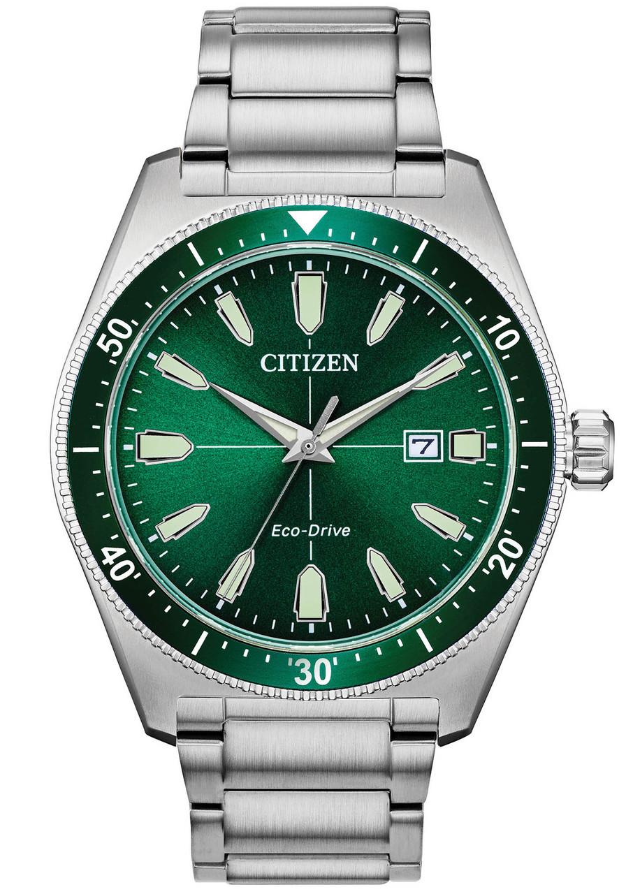 Citizen Eco Drive Brycen Silver Green