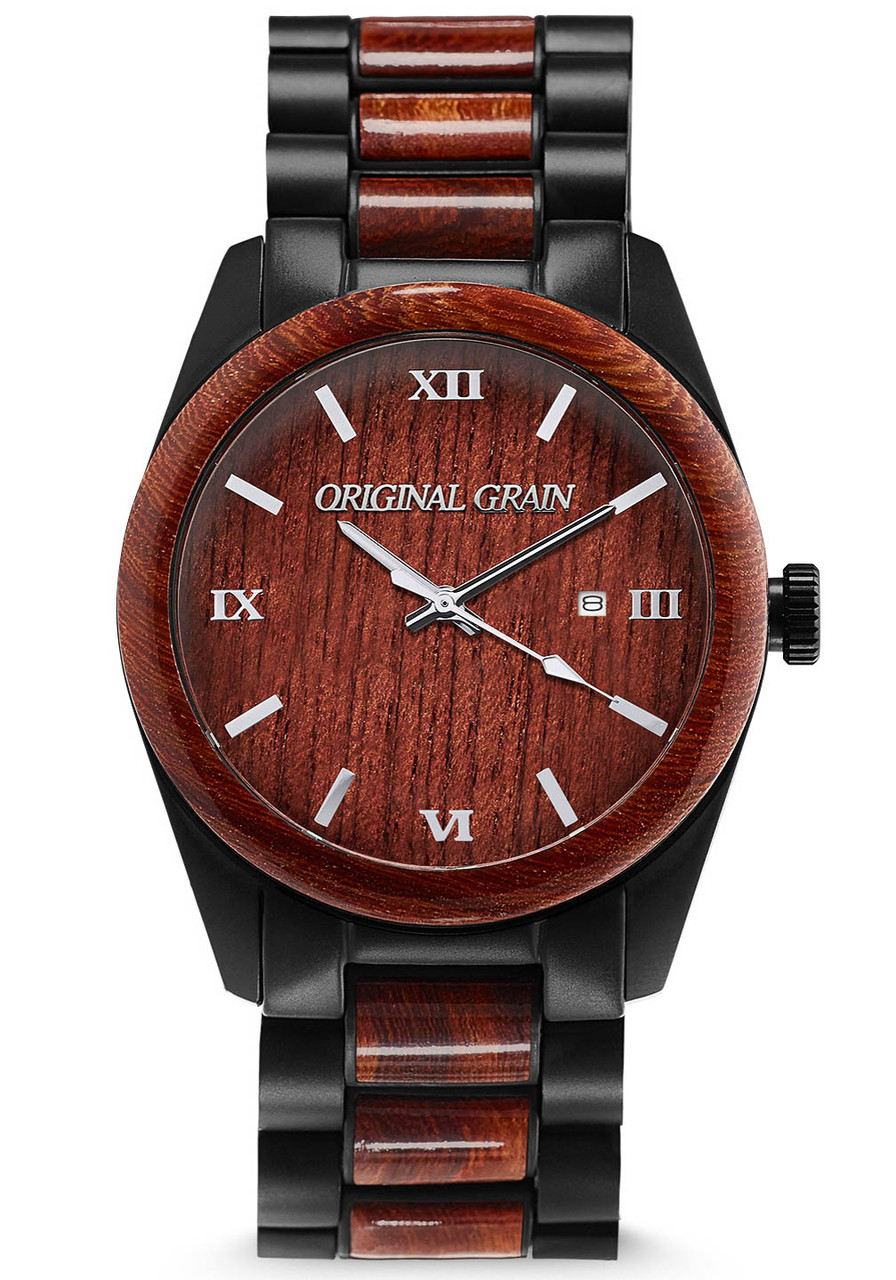 Original Grain Classic Rosewood Black Watches Com