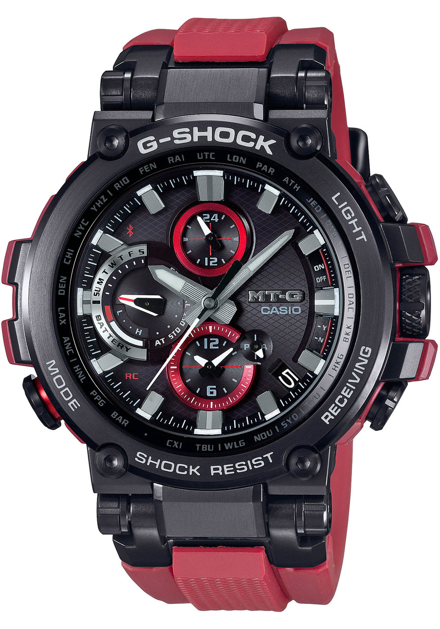G Shock Mtg B1000 Triple G Resist Black Red