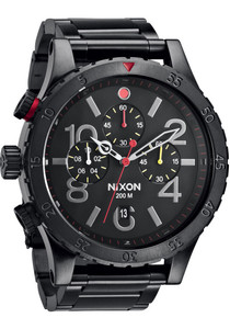 fdccdaa512d Nixon 48-20 Chrono All Black Multi