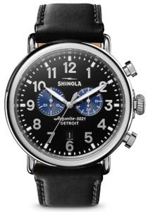 ad2c95549 Shinola Bedrock 42mm Blue Cordovan. $700.00. Shinola Runwell Chrono 47mm  Black Silver (S0120109242)