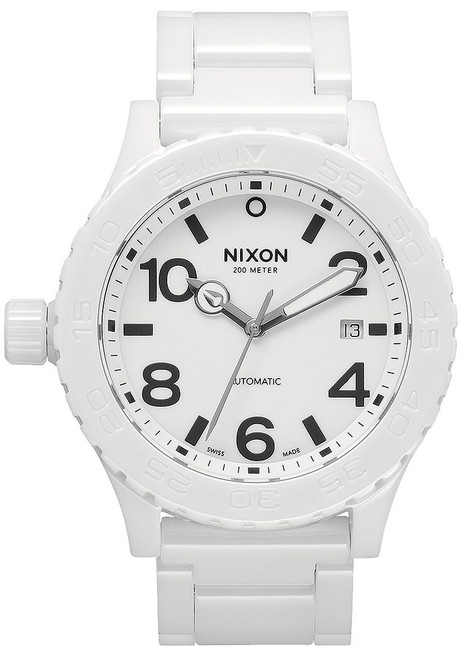 Nixon 42-20 White Ceramic Swiss Automatic