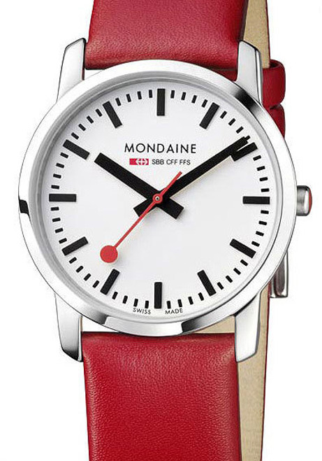 Mondaine Ultra Thin 36mm Simply Elegant Red (A400-30351-11SBC)