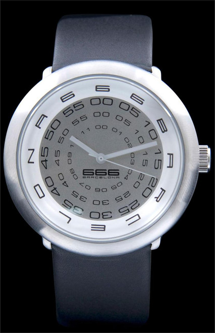 Concentric Leather Silver/Black