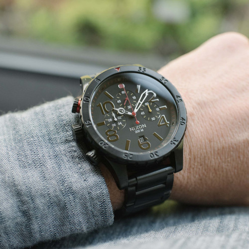 Nixon 48-20 Chrono All Black/Multi (A4861320)