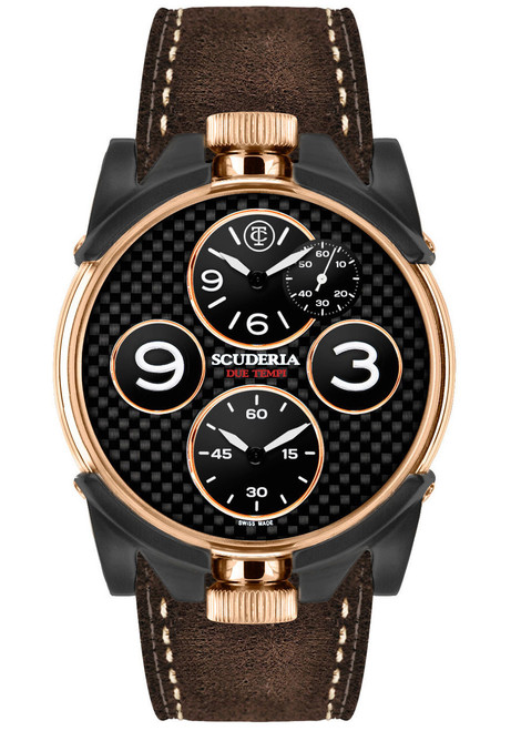 CT Scuderia 2 Tempi Carbon Twin Time -RoseGold/Brown
