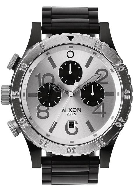 Nixon 48-20 Chrono Black/Silver