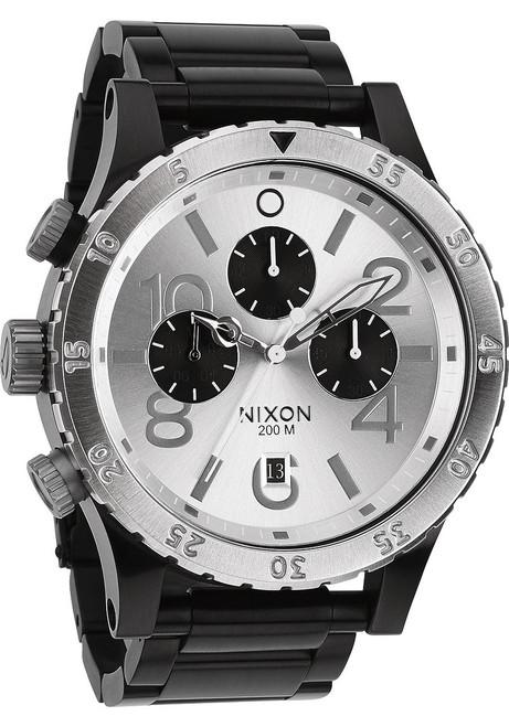 Nixon 48-20 Chrono Black/Silver (A486180)