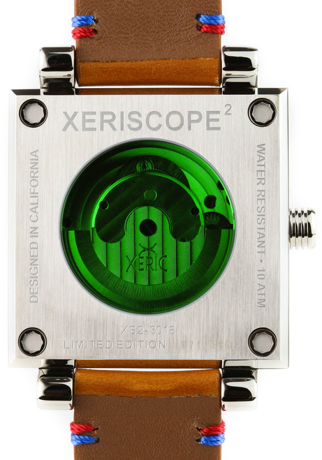 Xeric Xeriscope Squared Silver/Brown (XS2-3018) back