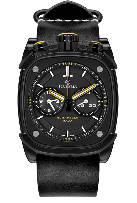 CT Scuderia Scrambler Chronograph Black/Yellow