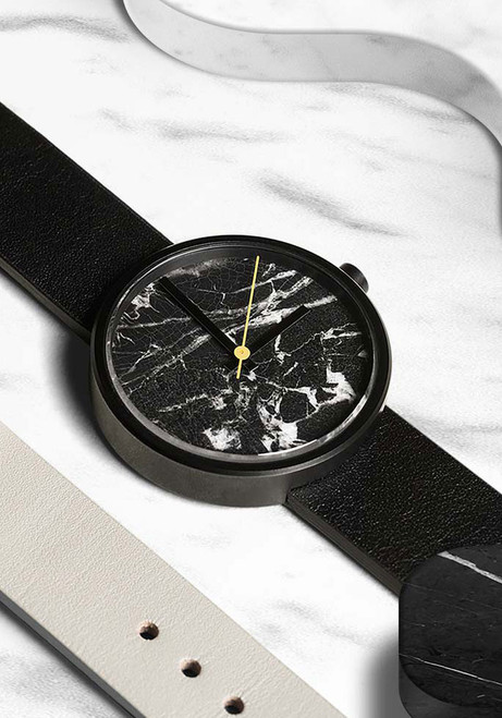 AARK Collective Marble Nero Black Italian Leather