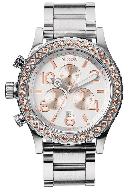 Nixon 42-20 Chrono Silver/Gold Crystal (A0371519)