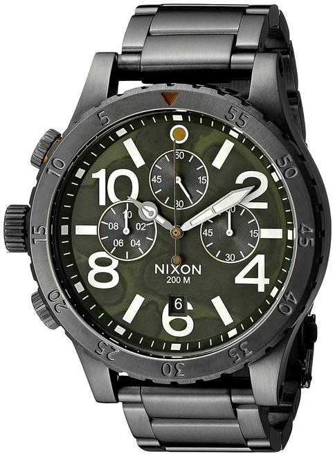 Nixon 48-20 Chrono Gunmetal/Green Oxyde (A4862069)