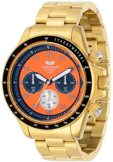 Vestal ZR2022 43mm Brushed Gold/Orange