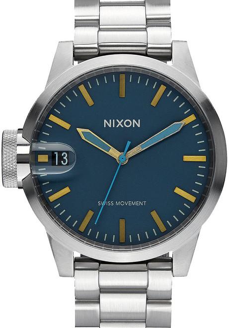 Nixon Chronicle 44 Navy/Brass