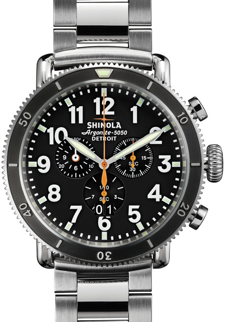 Shinola Runwell Sport 48mm, Silver Bracelet Watch