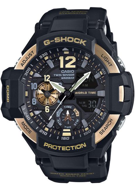 ef5d11b83ef46 G-Shock Gravitymaster Aviation Black Gold (GA-1100-9G) ...