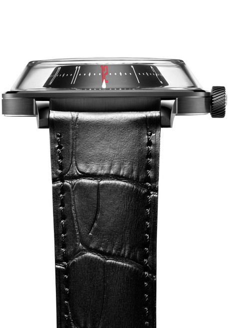 Fiyta 3D-Time Skeleton Automatic Black Croc