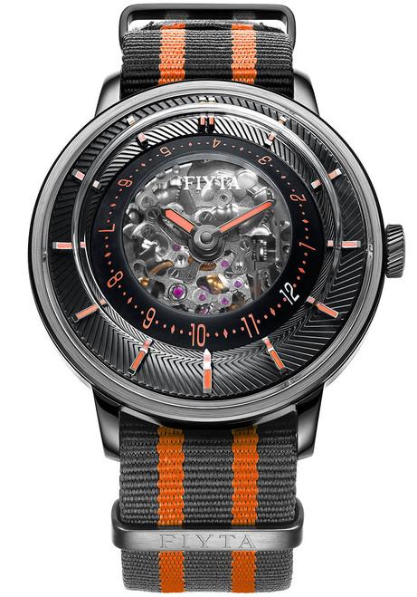 Fiyta 3D-Time Skeleton Automatic Black Orange (WGA868001.BBB)