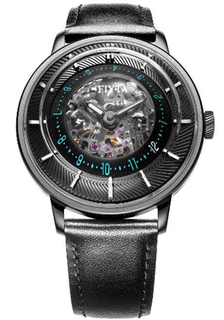 Fiyta 3D-Time Skeleton Automatic Black Blue (WGA868003.BBB)