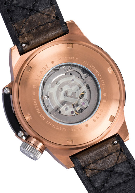 Ballast Trafalgar Automatic Brown/Rose Gold Caseback (BL-3133-02)