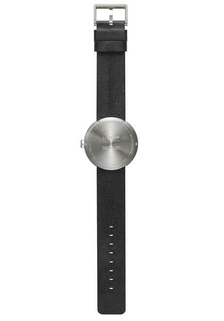 LEFF Amsterdam Tube Watch Leather D42 Steel/Black (LT72001)