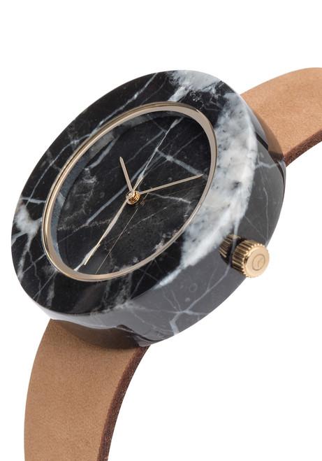 Analog Watch Co Circular Mason Black Marble Tan (GT-BO)
