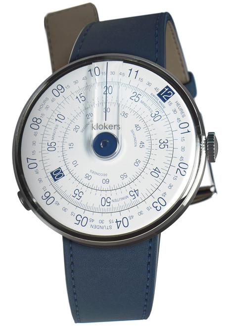 Klokers Klok-01-D4 Indigo Blue Leather (KLOK-01-D4-KLINK-01-MC3)