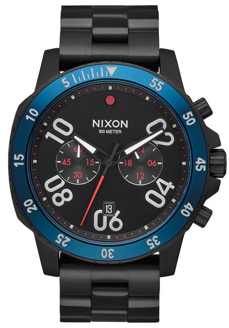 Nixon Ranger Chrono All Black Blue (A549602)