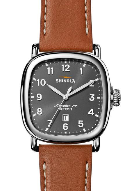 Shinola Guardian 41mm Cool Gray Brown