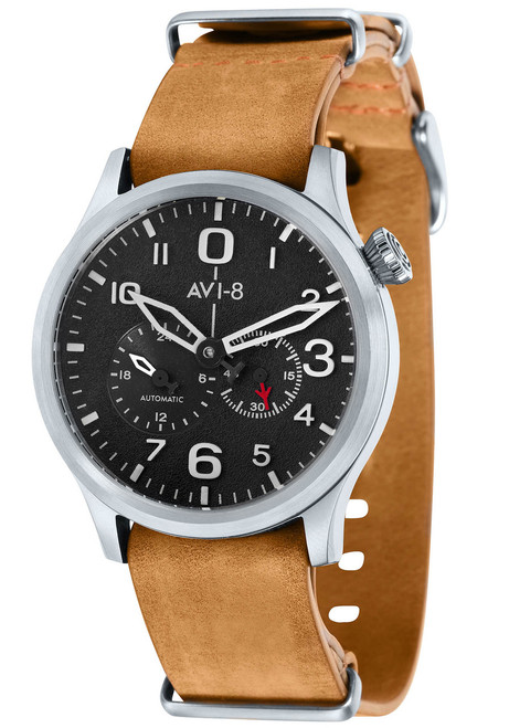 AVI-8 Flyboy Multi-Function Automatic Brown Silver (AV-4048-01)