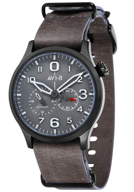 AVI-8 Flyboy Multi-Function Automatic Grey Black (AV-4048-04)