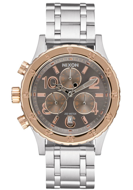 Nixon 38-20 Chrono Silver Rose Gold Taupe (A4042215)