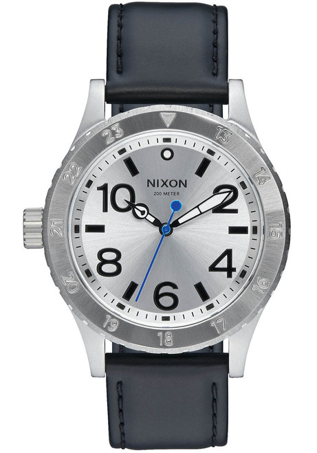 Nixon 38-20 Leather Silver Black Blue (A4672184)