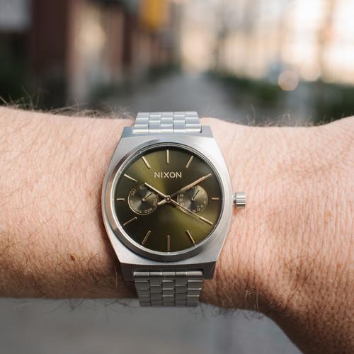 eeb0968c6 ... Nixon Time Teller Deluxe Olive Sunray (A9222210) ...