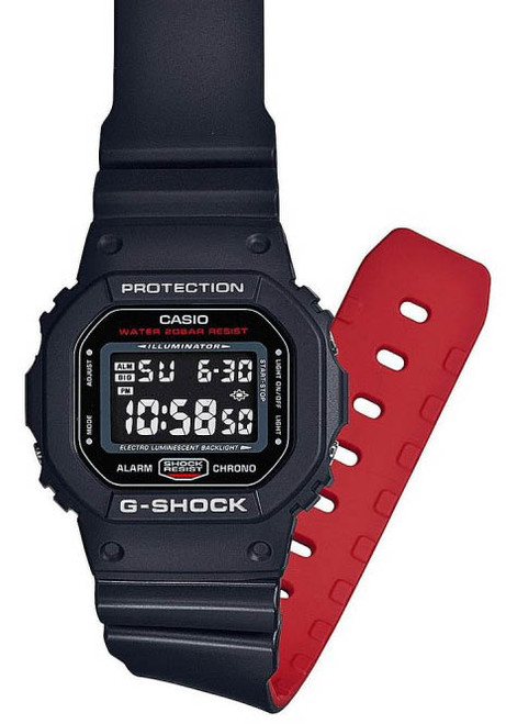 G Shock Dw 5600hr Black Red Watches Com