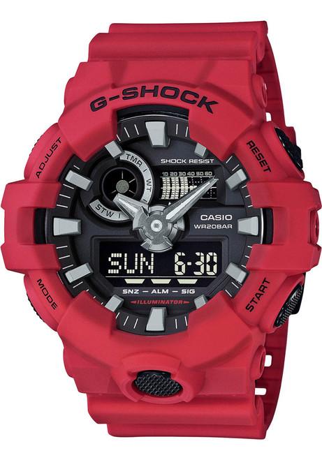 G-Shock GA-700 Anadigi Red Black (GA-700-4A) FRONT