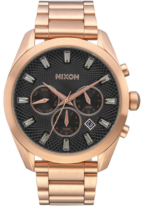 Nixon Bullet Chrono Crystal All Rose Gold Gunmetal (A9312046)