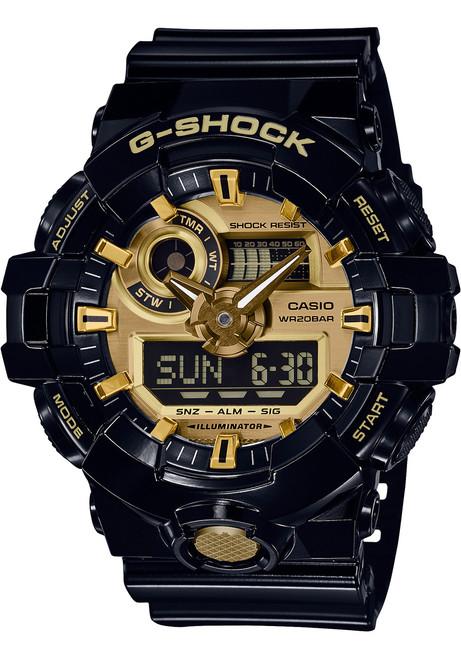 15b30e0fb14 G-Shock GA-710 Anadigi Black Gold