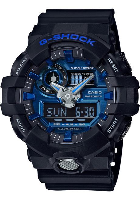 G-Shock GA-710 Anadigi Black Blue (GA710-1A2)