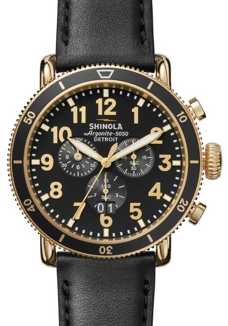 Shinola Runwell Sport Chronograph Gold (S0120044138) front