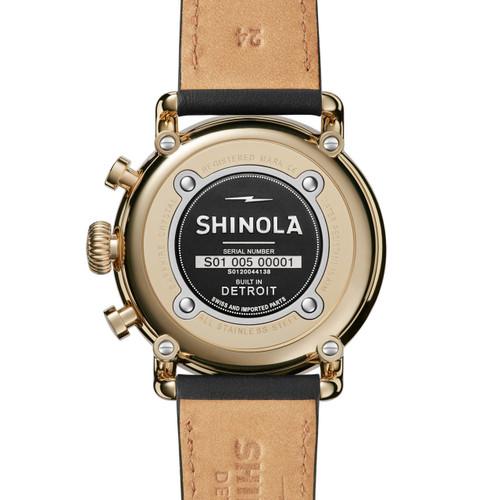 Shinola Runwell Sport Chronograph Gold (S0120044138) caseback
