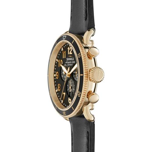 Shinola Runwell Sport Chronograph Gold (S0120044138) side