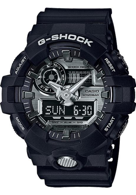 G-Shock GA-710 Anadigi Black Silver (GA710-1A)