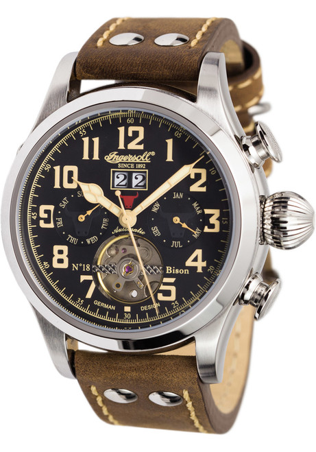 Ingersoll IN4506BKCR Bison No.18 Automatic Brown Black (IN4506BKCR)