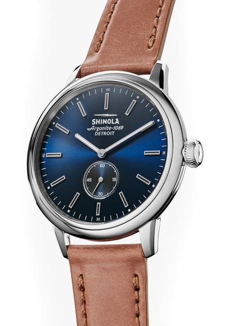 Shinola Bedrock 42mm Blue Cordovan (S0120058979)