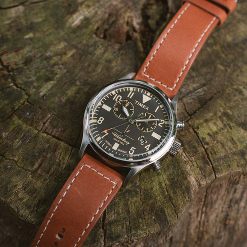 Timex Waterbury Traditional Redwing Chrono Black Brown (TW2P84300VQ)